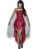 Deluxe Black Witches Gothic Lace Cape
