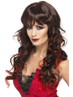 Halloween Red and brown Vixon Wig