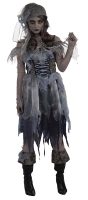 Halloween Zombie Ghost Pirate Fancy Dress Costume