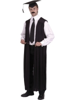 Headmasters Black Gown Fancy Dress Costume