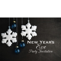 Happy New Year's Eve Small Party/ Celebration Invitations