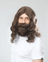 Hippy Jesus Wig and Beard Set