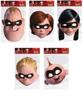 Disney masks The incredibles  party quality cardboard  face masks