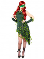 Ladies Fancy Dress outfit  supervillan poison ivy Costume