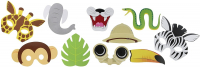 Animal / jungle friends Photo booth props 10 pack