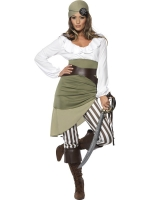 Ladies Shipmate Sweetie Pirate Fancy Dress Costume