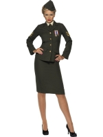 Ladies Wartime Officer Fancy Dress Costume
