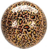 Orbz  Leopard print jungle Bubble Balloon