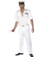 Mens 1980's Top Gun Captain Costume