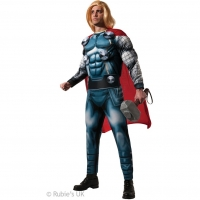 Mens Marvel deluxe Thor superhero fancy dress costume