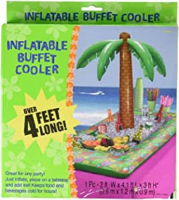 Inflatable Palm Tree rectangle drinks cooler Hawaiian party accessory