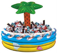 Inflatable Palm Tree round drinks cooler Hawaiian party accessory