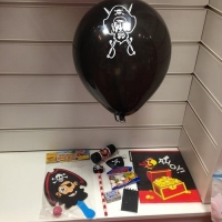 Pirate party filled goodie bags
