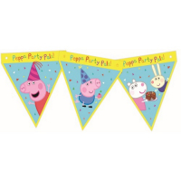 Peppa pig party banner decoration