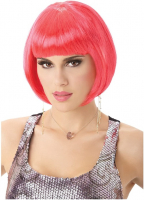 Ladies Pink Bob Babe Wig
