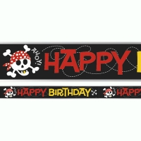 Pirate party foil banner decoration 12ft