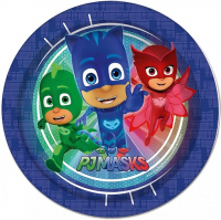PJ Masks Plates - 23cm Paper Party Plates 8 pack