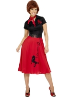 Poodle Dress Red and Black