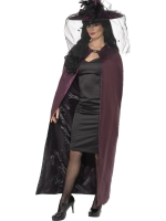 Purple and Black Reversible Witches Cape