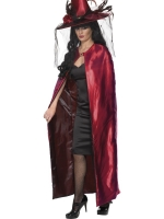 Red and Black Reversible Witches Cape