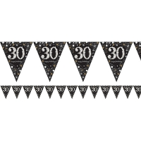 Sparkling Celebrations 30th Birthday Flag Banner Party Decoration 4m Bunting