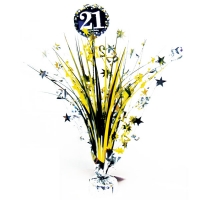 21st Birthday Gold Sparkling Celebration Table Party Decoration Centerpiece
