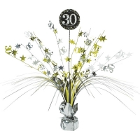 30th Birthday Sparkling Celebration Age 30 Table Party Decoration Centerpiece