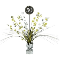 50th Birthday Sparkling Celebration Age 50 Table Party Decoration Centerpiece