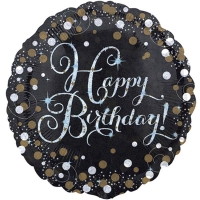 "Happy Birthday Party Sparkling Mix Celebration 18"" Foil Balloon"