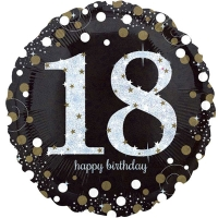 "Happy 18th Birthday Party Sparkling Mix Celebration 18"" Foil Balloon"