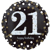 "Happy 21st Birthday Party Sparkling Mix Celebration 18"" Foil Balloon"
