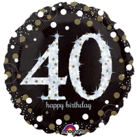 "Happy 40th Birthday Party Sparkling Mix Celebration 18"" Foil Balloon"