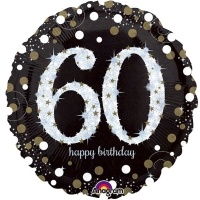 "Happy 60th Birthday Party Sparkling Mix Celebration 18"" Foil Balloon"