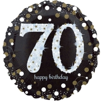 "Happy 70th Birthday Party Sparkling Mix Celebration 18"" Foil Balloon"