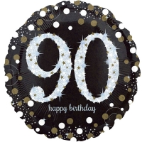 "Happy 90th Birthday Party Sparkling Mix Celebration 18"" Foil Balloon"