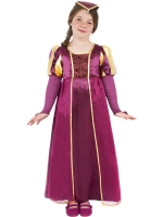 Tudor Girl Burgundy Costume