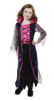 Girls Purple and Pink Halloween Spider Queen Costume