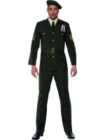 Wartime Officer Fancy Dress Costume