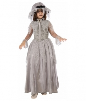 Halloween Fancy Dress Girls Victorian Ghost Costume