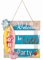 Hula/ Hawaiian Party Tiki Bar Sign - 1m Hawaiian Decoration