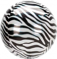 Orbz Zebra print jungle Bubble Balloon