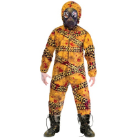 Boys Halloween Quarantine Zombie  Fancy Dress Costume