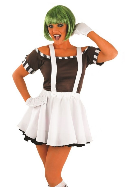 sc 1 st  Altered Image Fancy Dress & Ladies 7 Piece Sexy Oompa Loompa Factory Worker Costume