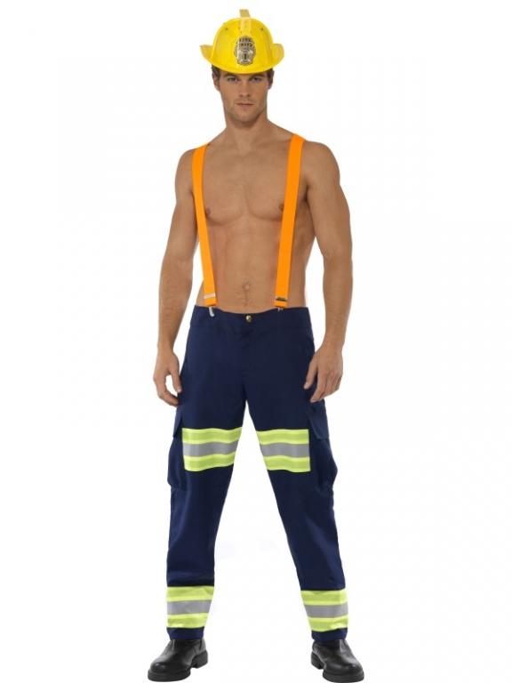 Fireman Costume Adult Firefighter Halloween Fancy Dress