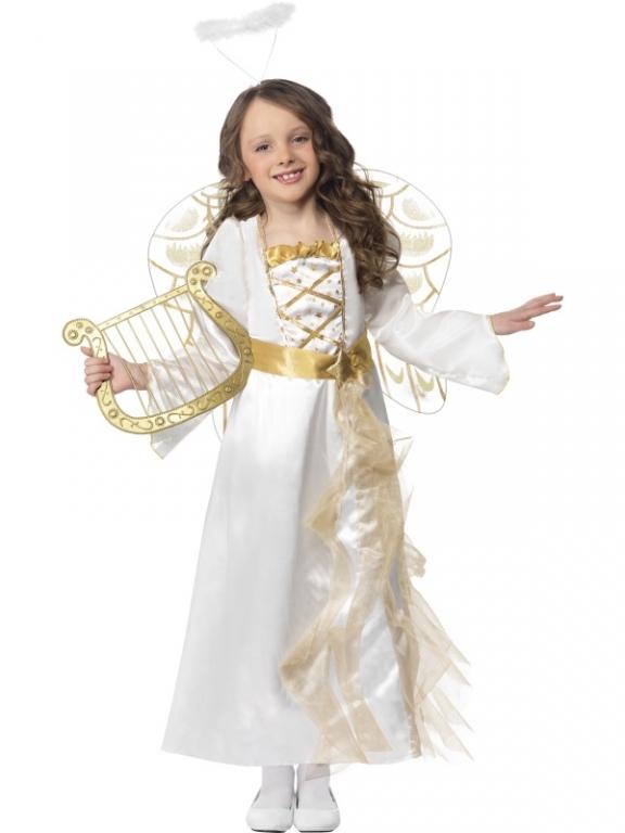 Ladies Angel Halo /& Wig Christmas Fairy Fancy Dress Costume Accessory
