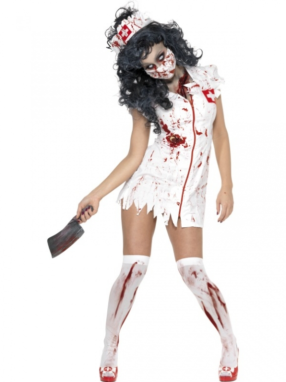 Fantastic  Horror Zombie Halloween Fancy Dress Costume Adult Womens Outfit  EBay